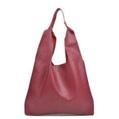 Sofia Cardoni Dámska kožená kabelka AW20SC1563 Rosso