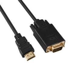 PremiumCord Kábel s HDMI na VGA prevodníkom, dĺžka kábla 2 m khcon-50