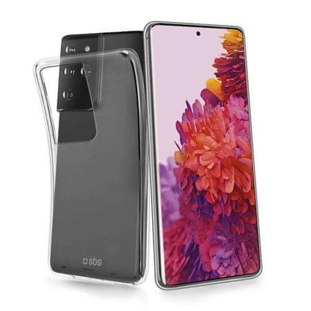 SBS ovitek za Samsung Galaxy S21 Ultra, silikonski, prozoren