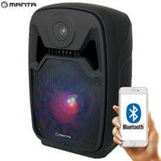 Manta SPK5100 karaoke zvučni sustav, prijenosni, ugrađena baterija, BT 5.0, USB/MP3, LED svjetla, FM radio