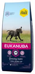 Eukanuba suha hrana za štence Puppy & Junior Large Breed 15 kg + 3 kg gratis