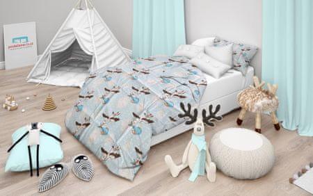 Povlečeme vše Kiságy ágynemű Kék gólya