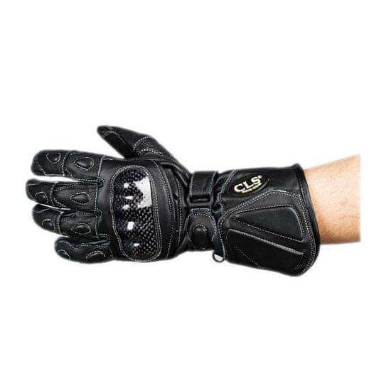 CLS MOTORCYCLE Kožené motocyklové rukavice CLS veľkosť S