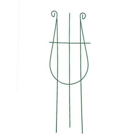 """Kraftika 5 db, rácsos, 48 × 18 × 0,3 cm, fém, zöld, """"hárfa"""""""