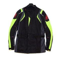 CLS MOTORCYCLE Racing bunda moto CORDURA black/gray/fluo veľkosť 2XL