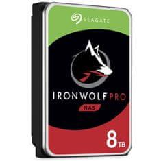 Seagate IronWolf Pro NAS trdi disk, 8 TB, SATA3, 7200 rpm, 256 MB