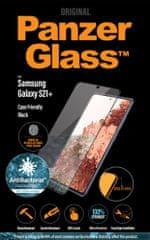 PanzerGlass zaščitno steklo Edge-to-Edge Antibacterial za Samsung Galaxy S21+, črno