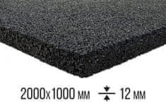 Pryžovépodložky.cz Antivibrační pryžová deska 2000x1000x12 mm