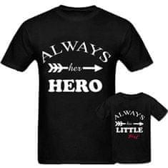 Mini&Me Always her hero & Always his little girl tričko (otec M/dcéra 8)