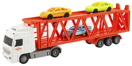 Teddies Kamion transporter + 3 automobila, sa svjetlom i zvukom