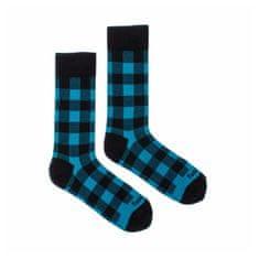 Fusakle Veselé ponožky karo blu (--0938)