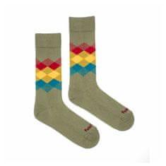 Fusakle Veselé ponožky kosočtverec les (--0807)