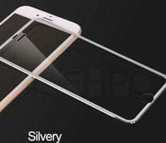Oem Full-Cover 3D metal tvrdené sklo pre Apple iPhone XS Max - strieborné