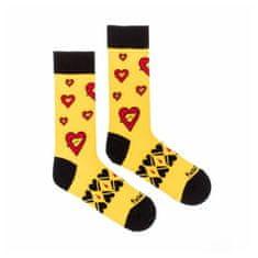 Fusakle Veselé ponožky seman srdce (--0908)