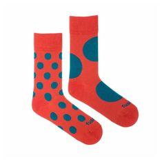 Fusakle Veselé ponožky diskoš terakoto (--1085)