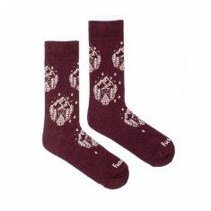 Fusakle Veselé ponožky dřevěnice (--0987)