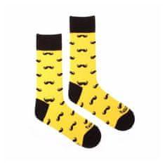 Fusakle Veselé ponožky fousáč žlutý (--0005)