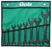 GOLA nářadí Sada oboustranných otevřených klíčů 8 dílná GOLA 710008