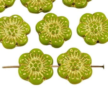 Kraftika 10db átlátszatlan olajbogyó zöld arany patina mosás lapos