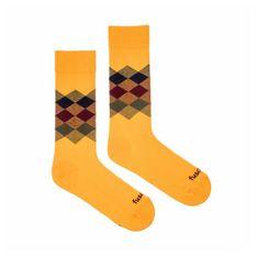 Fusakle Veselé ponožky kosočtverec léto (--0808)