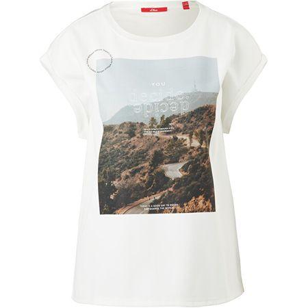 s.Oliver T-shirt damski Loose Fit 120.10.101.12.130.2060841.02D1 (Wielkość 38)
