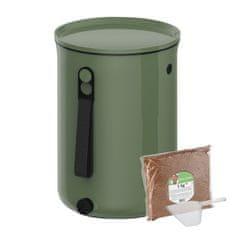 Skaza Bokashi Organko 2 komposter 9,6l + posip 1kg, maslinasto zeleni