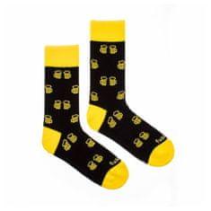 Fusakle Veselé ponožky na zdraví čierné (--0507)