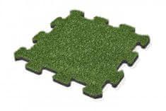 Pryžovépodložky.cz Pryžová dlažba, umělá tráva, PUZZLE, 500x500x25 mm
