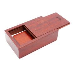 CTRL+C Sada: drevený USB hranol a drevený malý box, cherry