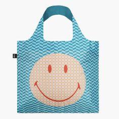 LOQI Nákupná taška LOQI Smiley Geometric Recycled