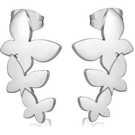 S'Agapõ Acél fülbevaló három csokornyakkendővel SRI22