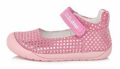 D-D-step Dívčí kožené barefoot sandály 070-980A