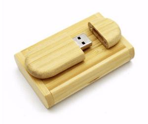 CTRL+C Owalny drewniany pendrive + pudelko BAMBUS, 32 GB, USB 2.0