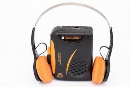 moderní walkma gpo retro casette walkman mikrofon pro hlasový záznam zabudovaný reproduktor 5 funkčních tlačítek fm rádio funkce automatického zastavení aa baterie sluchátka v balení
