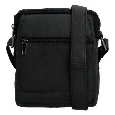 Bellugio Kožená crossbody taška Filip, černá