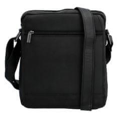 Bellugio Kožená crossbody taška Jeremy, černá