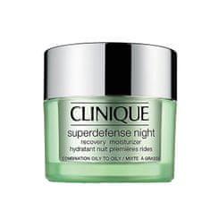 Clinique Noční hydratační krém pro smíšenou až mastnou pleť Superdefense (Night Recovery Moisturizer Combinat