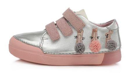D-D-step lány bőr sportcipő 068-683, 25, ezüst