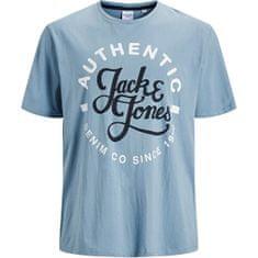 Jack&Jones Plus Pánske tričko JJMOON 12182785 Faded Denim