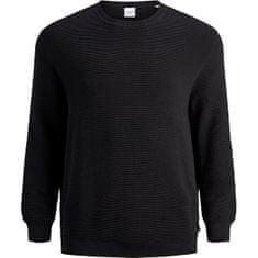 Jack&Jones Plus Pánský svetr JJELIAM 12178716 Black