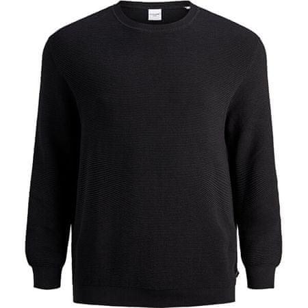 Jack&Jones Plus Férfi pulóver JJELIAM 12178716 Black (Méret 6XL)