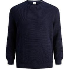 Jack&Jones Plus Pánský svetr JJELIAM 12178716 Maritime Blue