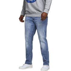 Jack&Jones Plus Pánské džíny Slim Fit JJIGLENN JJORIGINAL 12188524 Blue Denim