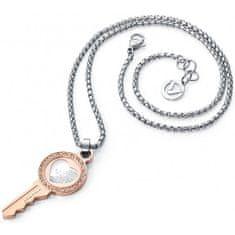 Viceroy Dizajnový bicolor náhrdelník kľúč Fashion 2248C09019