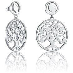 Viceroy Elegantní ocelové náušnice s krystaly Happiness 80007E11000