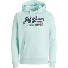 Jack&Jones Bluza męska JJELOGO 12172349 Bleached Aqua