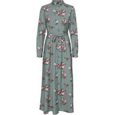 Vero Moda Dámské šaty VMNEWALLIE MAXI 10251668 Green Milieu NEWALLIE