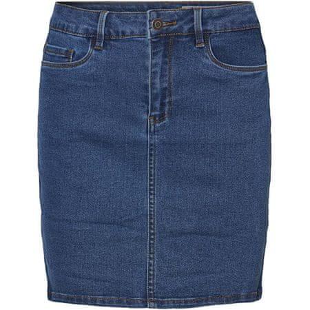 Vero Moda Női szoknya VMHOT SEVEN 10231638 Medium Blue Denim (Velikost M)