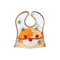 BOBO BABY Detská zásterka Medvedík - hnedý
