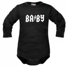 Dejna Body dlhý rukáv Dejna Baby - čierne, veľ. 68